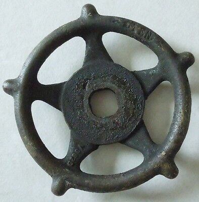 "Large Vintage Steampunk Cast Iron Water Valve Handle 5 1/4"" Lot10"