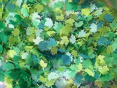 Summer Biodegradable Confetti Green Maple Leaf Mint Kelly Up to 10 small cones