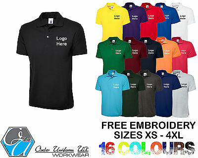 Personalised Embroidered Polo Shirt Workwear, Uniform, Logo, Cheapest,Business