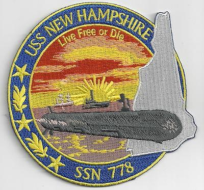 USS New Hampshire SSN 778 - 3 7/8 inch FE Submarine Patch BCP No. c7165