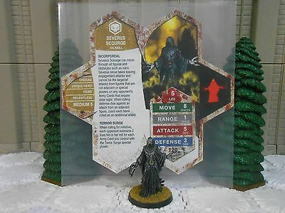 Heroscape Custom Severus Scourge Double Sided Card & Figure w/ Sleeve Valkrill