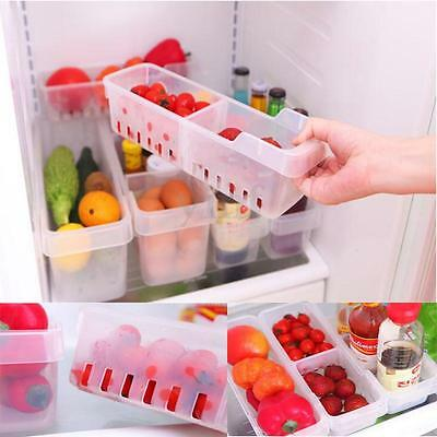 Plastic Kitchen Refrigerator Fresh Food Case Storage Organizer Box Container S/L