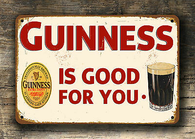 Guinness sign Vintage style guinness sign Guinness signs Pub sign Pub signs 12x8