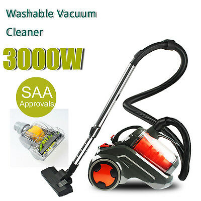 3000W Bagless Cyclone Cyclonic Vacuum Cleaner Filtration System Turbo Brush Head