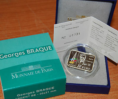 France 2010 Georges BRAQUE 10 euros Silver Proof - Francia plata silber