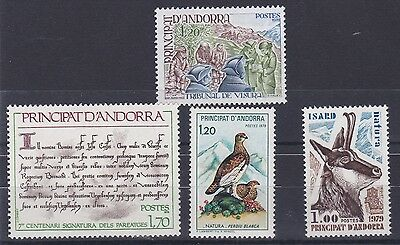 French Andorra 1978-79  Sg F291 - 294 Various Values   M / N / H