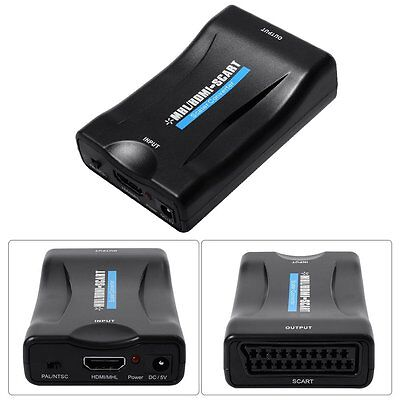 MHL HDMI to SCART 1080p Video Audio Converter Smartphone Sky STB DVD TV AH149