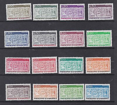 French Andorra 1983 Sg F335 - F352  Part Set To 20F Cat £46      M / N / H