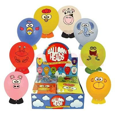 Balloon Heads Animal Sticker Boy Girl Childrens Kids Toys Loot Party Bag Fillers