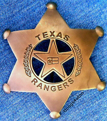 Texas Rangers brass lawman badge #131AF