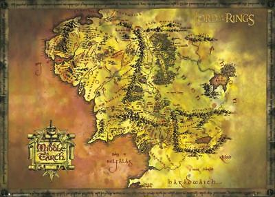 Lord Of The Rings- Middle Earth Map Giant Poster 140 x 100cm Wall Decor Home