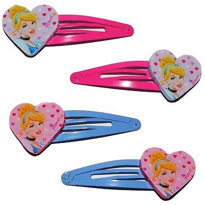 Lot de 4 barette à cheveux Disney Princesse pince fille