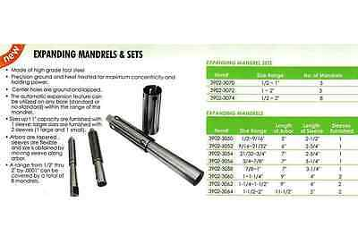 ALL 8pc NEW EXPANDING MANDRELS SET ITEM #3902-3074