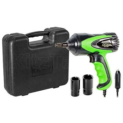 "Portable Impact Wrench 1/2"" Electric Corded Tool Driver 12V DC Ring Sockets -Car"