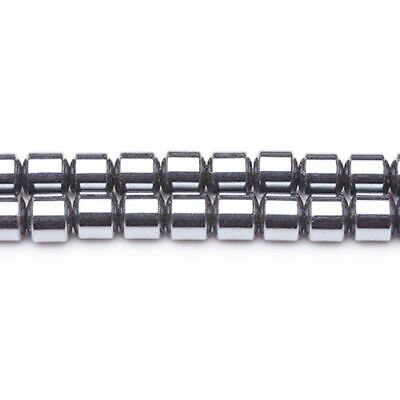 Strand Of 70+ Grey Hematite (Non Magnetic) 4 x 4mm Drum Beads GS6870-1