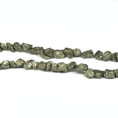 Strand Of 55+ Pale Gold Pyrite 6-10mm Chip Beads GS6087
