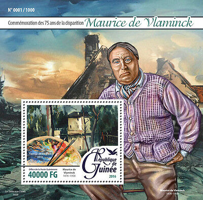 Guinea 2016 MNH Maurice de Vlaminck 1v S/S Landscape Creuse Art Paintings Stamps