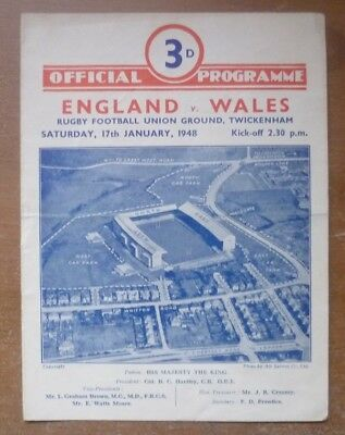 1948 - England v Wales, Five Nations Match Programme.