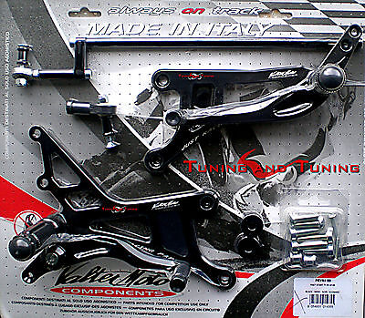 Commandes Reculees Valtermoto Type 1  Pour Yamaha Yzf R1 1000 2007 2008  (Pey54)
