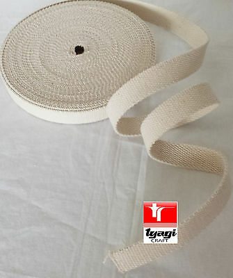 45mm Cotton Webbing Belting Fabric Strap 2mm Thick DIY Bag Making Tape Strapping