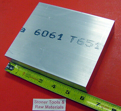 "1/2"" X 6"" ALUMINUM 6061 FLAT BAR 6"" long .500"" T6511 Plate Mill Stock"
