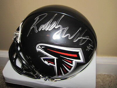 Roddy White Signed Autographed Atlanta Falcons Riddell Mini Helmet