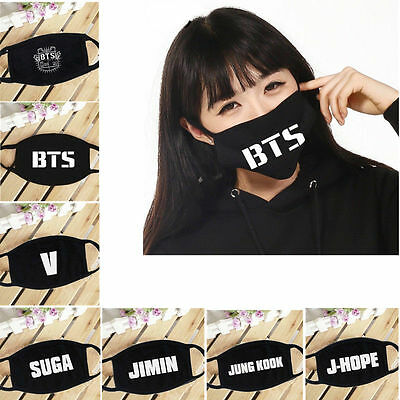 Wholesale KPOP BTS Mouth Mask Jung Kook V SUGA J-Hope Jimin Bangtan Boys Muffle