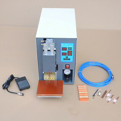 KA 110V Microcomputer Dual Pulse Spot Welder Machine PR50 Pneumatic Battery Pack