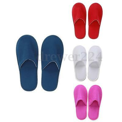 Newly White Red Blue Towelling Hotel Slippers Spa Guest Disposable Travel Shoes