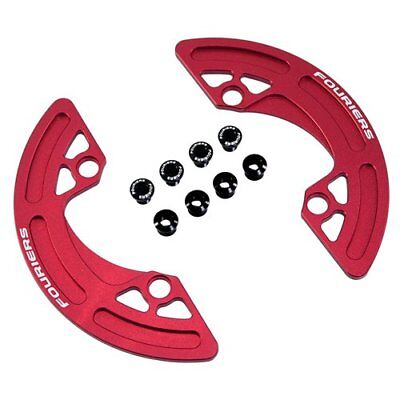FOURIERS CG-DX002 MTB CNC Chainring P.C.D 104mm Chain Ring Guard 38-40T, Red