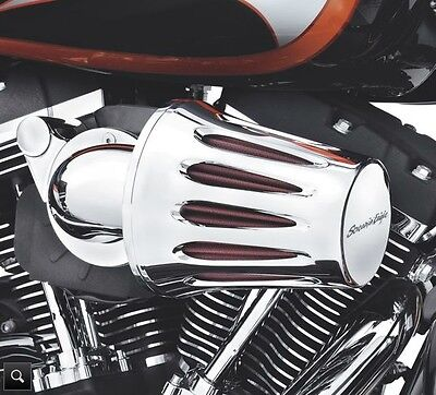 Harley-Davidson Heavy Breather Filter Cover - Teardrop Chrome End Logo 28740-10