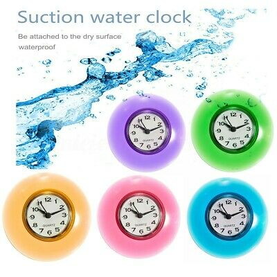 Waterproof Shower Clock Bathroom Kitchen Suction Home Clock Wall Timer 3.39'' UK