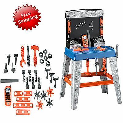 Tool Workbench Playset Pretend Plastic Toys Kids Workshop Toddler Boys 35-Pieces