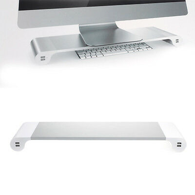 New Monitor Stand Space Bar Desk Organizer with 4 USB Ports Free Shipping