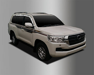 For Toyota Land Cruiser 200 2008+ Chrome Wind Deflectors Set  (4 pieces)