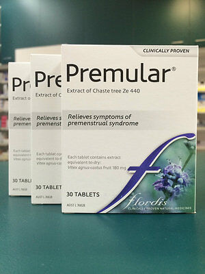 GENUINE 3 x Flordis Premular 30 Tablets