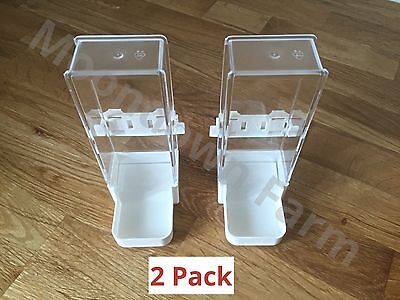 2x Bird Feeder Water Drinker Seed Clipper Fountain Canary Budgie Cockatiel Finch