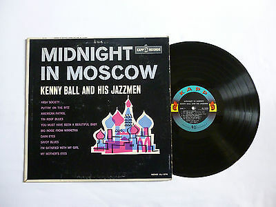 Kenny Ball & His Jazzmen ~ Midnight In Moscow ~ Kl-1276 ~ Vg+/vg ~ 1962 Us Lp