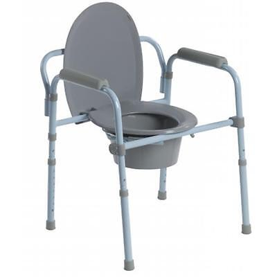 Drive Medical Folding Steel Commode RTL11158KDR Potty Chair ~Free Shipping~NEW