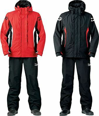 Daiwa Rain Suit Red Black All Sizes