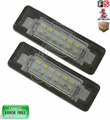 2 X Mercedes Number Plate Lights W202 W210 Led White 18Smd Canbus Error Free