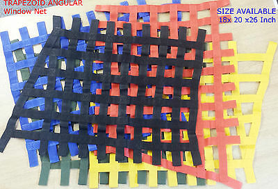 Trapezoid Angular Heavy Duty Ribbon Racing Car Window Net