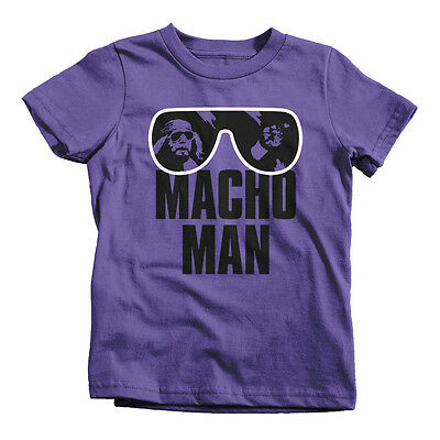 MACHO MAN Kids T-Shirt Funny Cotton Youth Tee Sizes S-XL