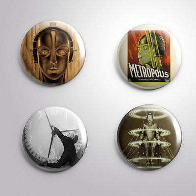 4 METROPOLIS FRITZ LANG - Pinbacks Badge Button 25mm 1''