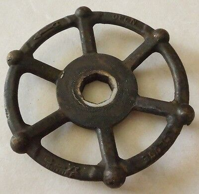 Large Vintage Steampunk Cast Iron Water Valve Handle ( 1 )