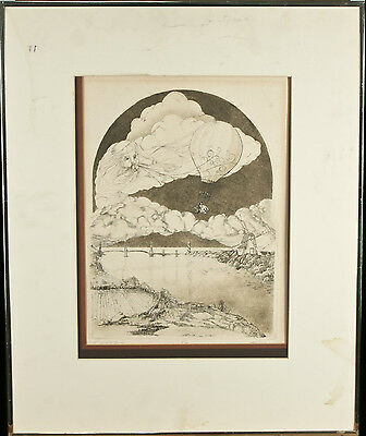 """""""The Wizard's Journey"""" By Franklin Norwood Signed Limited Ed. #67/300 Etching"""