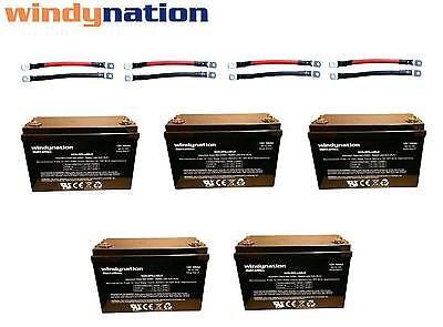 AGM Deep Cycle Battery Bank 12V 24V 48V Off Grid Solar Wind 100AH to 1000AH