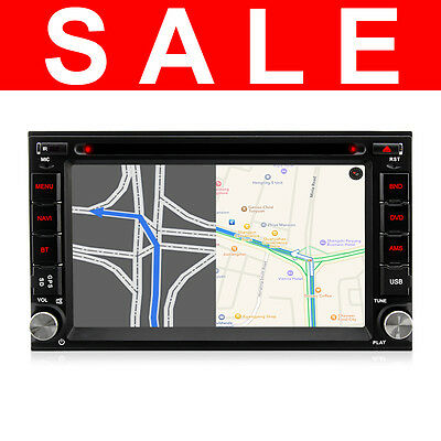 "Double 2 Din GPS 6.2"" Bluetooth Car Stereo Sat Nav Touchscreen GPS 3G DVD Radio"