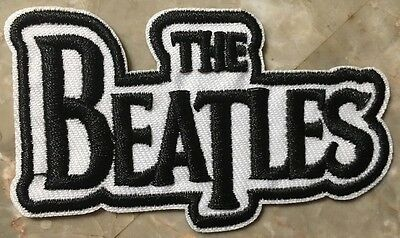 """The Beatles Patch-Sew On/Iron On-1 BRAND NEW CONDITION-Approx 3"""" x 1 3/4""""-NICE!"""