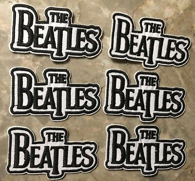 "The Beatles Patches-Sew On/Iron On-6 BRAND NEW CONDITION-Approx 3""x 1 3/4""-NICE"